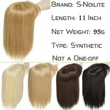 NEW 11'' Lady Hair Topper Real One Piece Full Head Clip In Hair Extension image 6