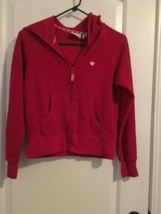 Aeropostale Girls Fleece Hoodie Sz M Red Athletic Zip Up Jacket - $45.00