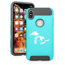 For Apple iPhone X XS MAX XR Shockproof Hard Soft Case Great Lakes Michigan - $14.99