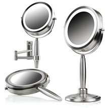 Ovente 3 in 1 Makeup Makeup Mirror Set 8.5 Inch 1X Vanity Handheld, Stan... - $43.99