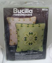 """1960-70 Bucilla Needlepoint Spectra 14"""" Square Pulled Thread Pillow Kit 4891 MIP - $32.18"""