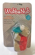 "WubbaNub Bear Pacifier, 0-6m Soothie Attached Plush, ""Red Pajama Bear"", ... - $13.98"