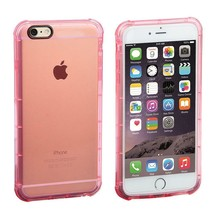 Pink Clear Gel TPU Case for Apple iPhone 6 - Soft Classy Ultra Thin Cover USA - $6.42