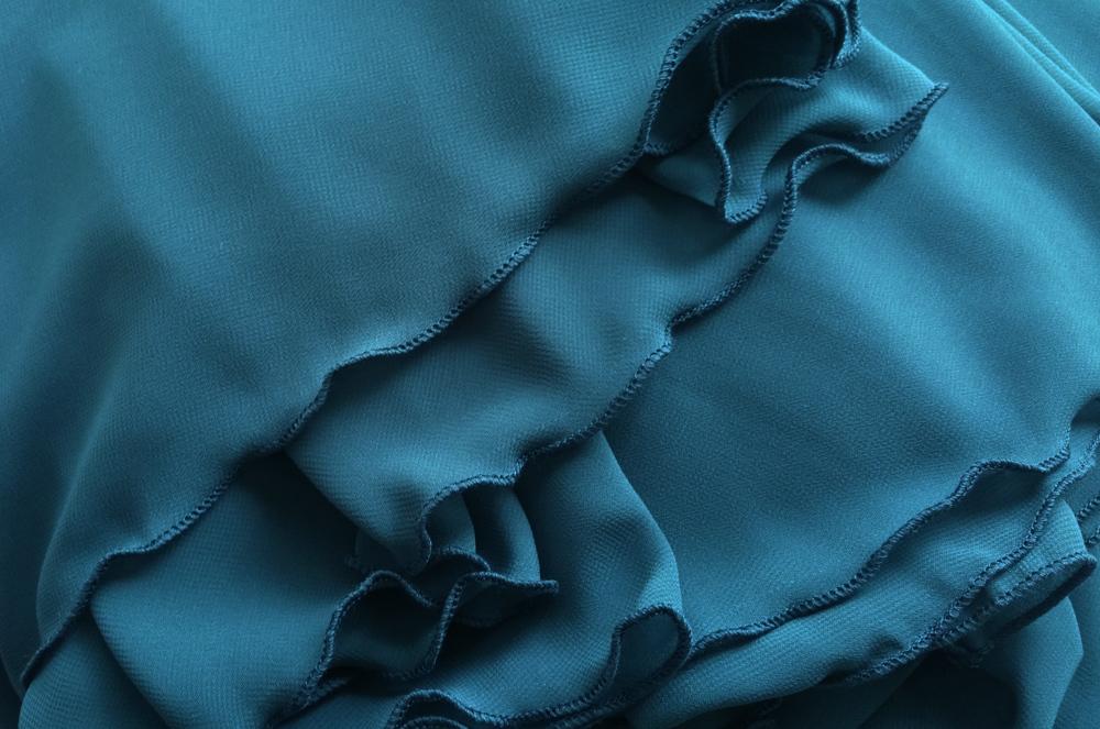 Women maxi chiffon skirt bluegreen 8