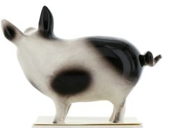 Hagen Renaker Miniature Pig Black and White Papa Ceramic Figurine image 4