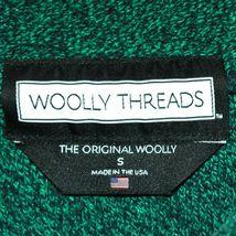 Woolly Threads Original Heather Green Navy Blue Notre Dame ND Sweatshirt Size S image 3