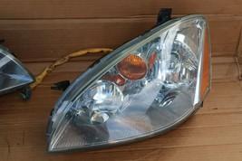 03-04 Nissan Altima Xenon HID Headlight Head Light Lamps Set L&R - POLISHED image 2