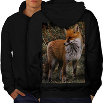 Flaming Hunter Fox Sweatshirt Hoody Clever Beast Men Hoodie Back - $20.99+