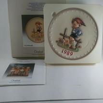 1989 Germany Goebel Hummel Boy with Pigs Plate in Original Box 7.5 inch EUC - $19.35