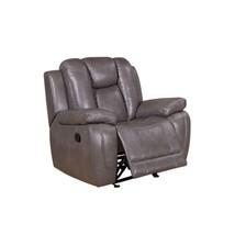 Amax Leather Austin Top Grain Leather Smoke Grey Recliner Chair Contempo... - $973.00