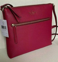 New Kate Spade New York Jackson Top Zip crossbody handbag Leather Cranberry - $95.00