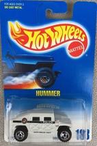 1991 HOT WHEELS BLUE / WHITE CARD #188 HUMMER POLICE WHITE - SAW BLADE W... - $1.95