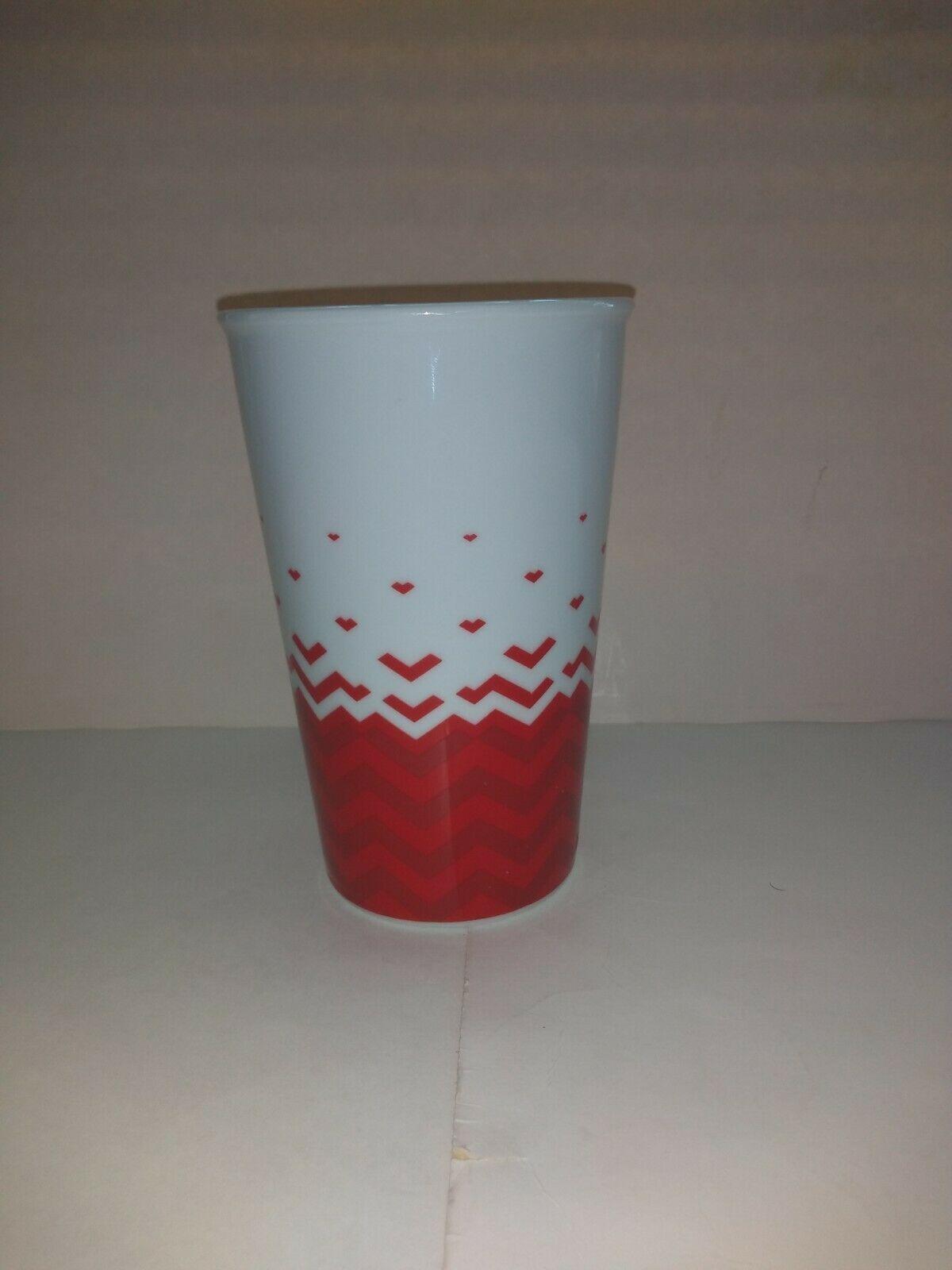 Starbucks 2013 Red White Hearts Valentines Day Mug 22 OZ  image 4