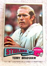 Terry Bradshaw 1975 Topps Card#461 Very Good Condition-Steelers HOF Lege... - $19.79
