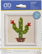 Diamond Dotz Diamond Embroidery Facet Art Kit W/ Frame-Texas Bloom - $10.82