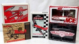 Lot of 5 Ertl Collectibles & Ace Hardware Die Cast Metal Vintage Airlplanes - $84.15