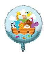 "Noah's Ark Cute Animals Boat Baby Shower Party Decoration 18"" Mylar Balloon - $8.17"