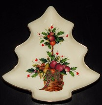 Lenox Holiday Tartan Candy Dish Christmas Tree Figure Dimension Collection  - $24.74