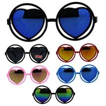 Kids Girls Plastic Heart Shape Hippie Color Mirror Sport Sunglasses - $9.95