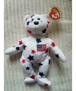 Ty Beanie Baby Glory Bear (USA Stars Teddy Bear) ORIGINAL RETIRED With 6... - $940.50
