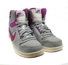 NIKE Delta LITE MID Womens Gray Fuschia Basketball Sneakers #386112-018 - $24.74