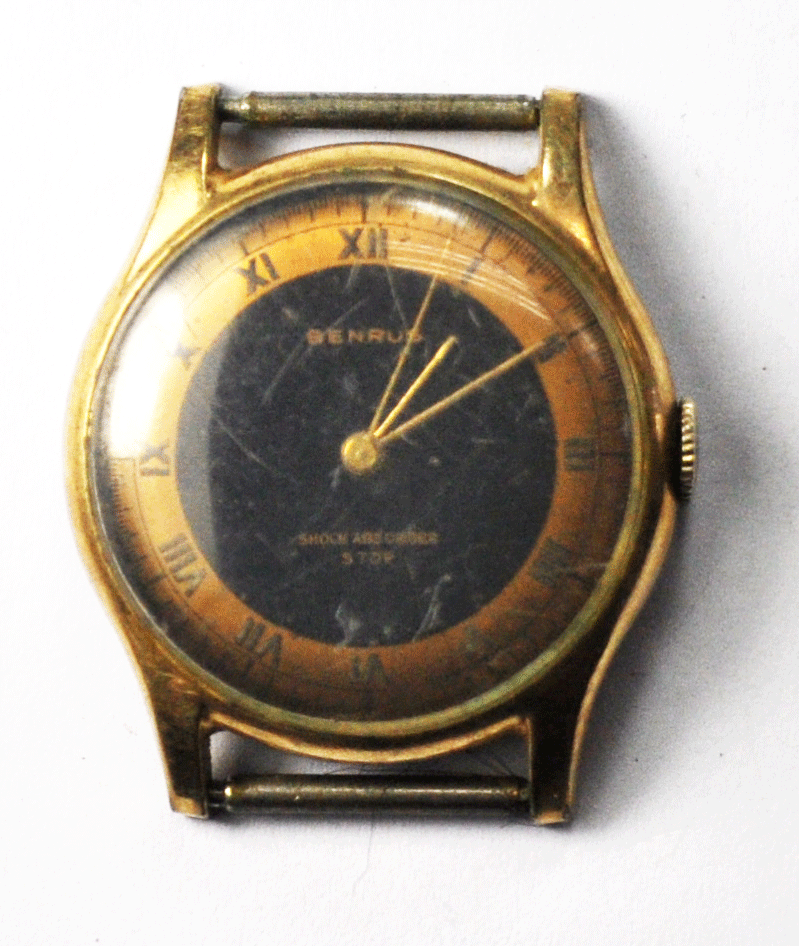 Primary image for Vintage Benrus BH2 Black & Copper Dial Manual Wind Wristwatch 1080 30mm
