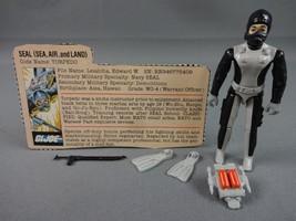 Vintage GI JOE Action Figure 1983 Torpedo 100% w Peach File Card - $15.05