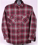 Fieldmaster Acrylic Shirt-Quilt Lined-L-Black Red Grey Plaid-Outdoor-War... - $37.39