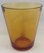 Vtg Amber Glass Juice Tumbler Old Fashioned Vereco Made in France 3 1/2 ... - $14.79