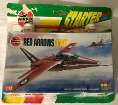 Airfix Airplane Model Starter Set ~ RAF Red Arrows Gnat Model Plane - $16.83