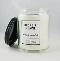 (1) Bath & Body Works Georgia Peach White Single Wick Scented Candle 7oz... - $12.87