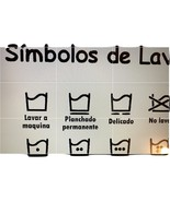 Laundry Symbols Sign In Spanish for Laundry - Instant Download  - $7.00