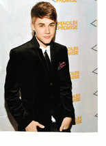 Justin Bieber teen magazine pinup clipping Japan dressed up black suit  - $3.50