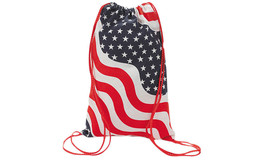 Patriotic USA Stars Stripes Canvas Backpack Sack Bag - $9.98