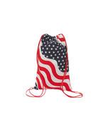 Patriotic USA Stars Stripes Canvas Backpack Sack Bag - $9.98