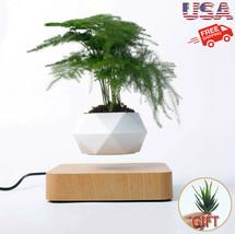Levitating Pot Air Bonsai Flower Magnetic Suspension Floating Home Desk ... - $85.99