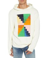 NEW FRAME DENIM OFF-WHITE BRIGHT COLOR PYRAMID HOODIE SWEATSHIRT SIZE M - $97.40