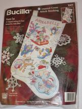 Winter Fun Stocking Kit Bucilla Counted Cross Stitch Snowman Polar Bear Bunny - $28.70
