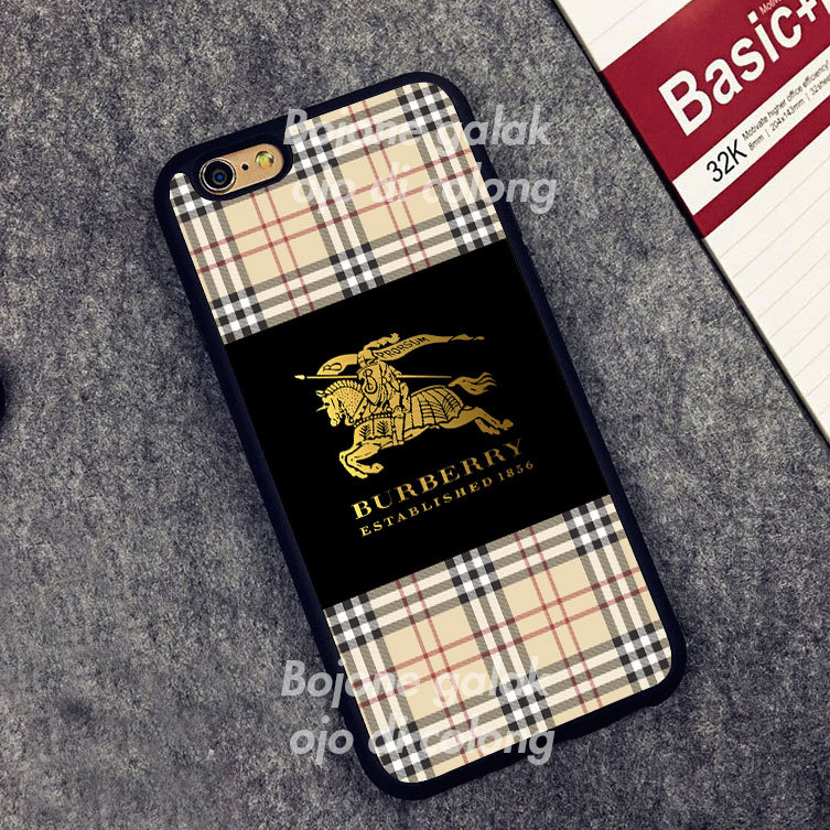 Burberry Black Gold Case for iPhone 5 5s 6 6s Plus 7 7plus 8 Samsung S Edge + for sale  USA