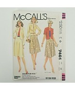 McCalls Sewing Pattern 7461 Size 10 Bust 32 1/2 Mises Jacket & Skirt Unc... - $14.42
