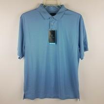 PGA Tour Men Motionflux Pacific Coast Blue White Polo Shirt MSRP $60 - $39.95