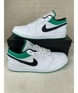Nike Air Jordan 1 Low White/Lucky Green/Black Men's Size 12 553558-129 - $143.52