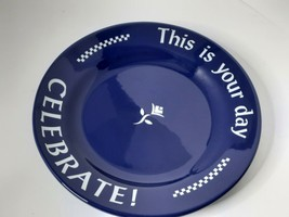 """Pampered Chef Celebrate This is You Day Blue Plate 10.5"""" - $30.00"""