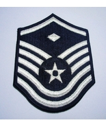 USAF Air Force Master Sergeant Embroidered Rank Patch Never Used - $6.75