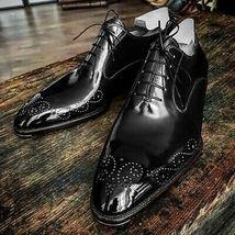 Men Magnificiant Black Tone Vintage Fashion Lace Up Premium Leather Oxford Shoes - $139.99+