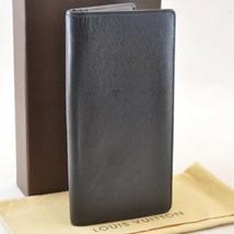 LOUIS VUITTON Taiga Portefeuille Brazza Ardoise Long Wallet M32572 Auth ... - $210.00