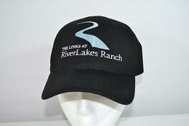 The Link At River Lakes Ranch Golf  Baseball Cap Black Flex fit OSFA - $17.99