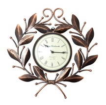 Handmade iron Hand painted Silent watch Wall panel Wall Clocks Metal Liv... - €73,01 EUR
