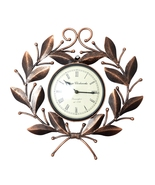 Handmade iron Hand painted Silent watch Wall panel Wall Clocks Metal Liv... - $78.99