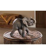 HAPPY ELEPHANT STATUE Safari Animal Figurine Indoor Outdoor Decor - $24.70